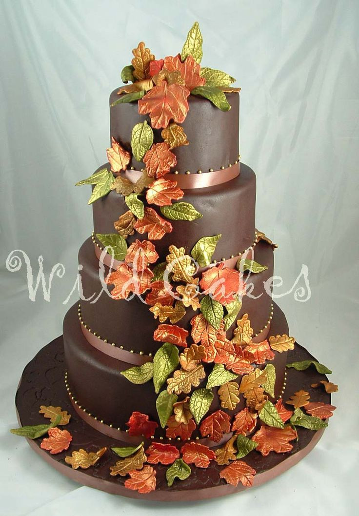 Fall Wedding Cakes Pictures  1000 images about Autumn Cakes on Pinterest