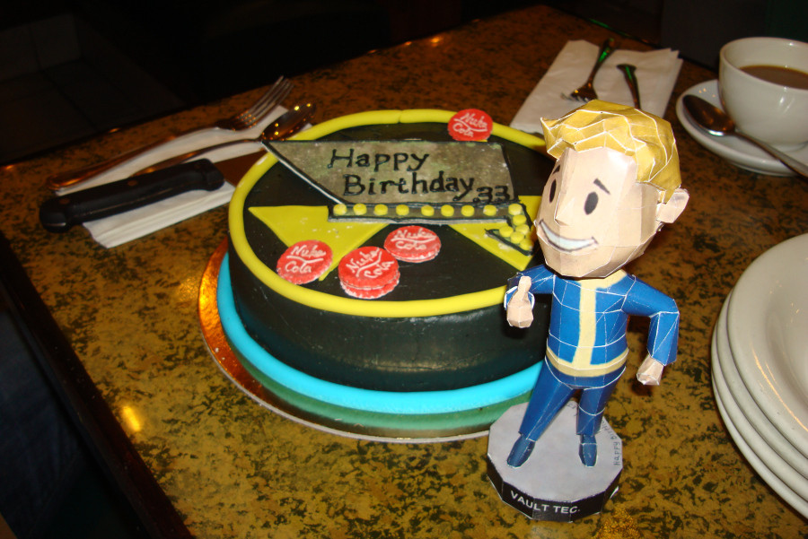 Fallout Birthday Cake  Fallout Cake and Vault Boy