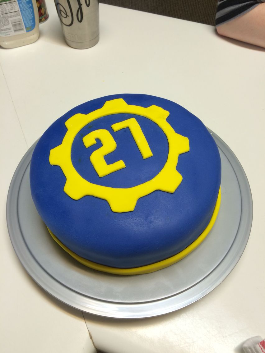 Fallout Birthday Cake  Fallout cake Vault 27 or however old you are