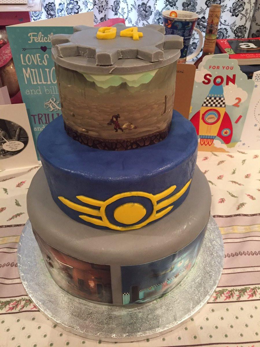"""Fallout Birthday Cake  ぜんぶ 肉 on Twitter """"My awesome Fallout birthday cake"""