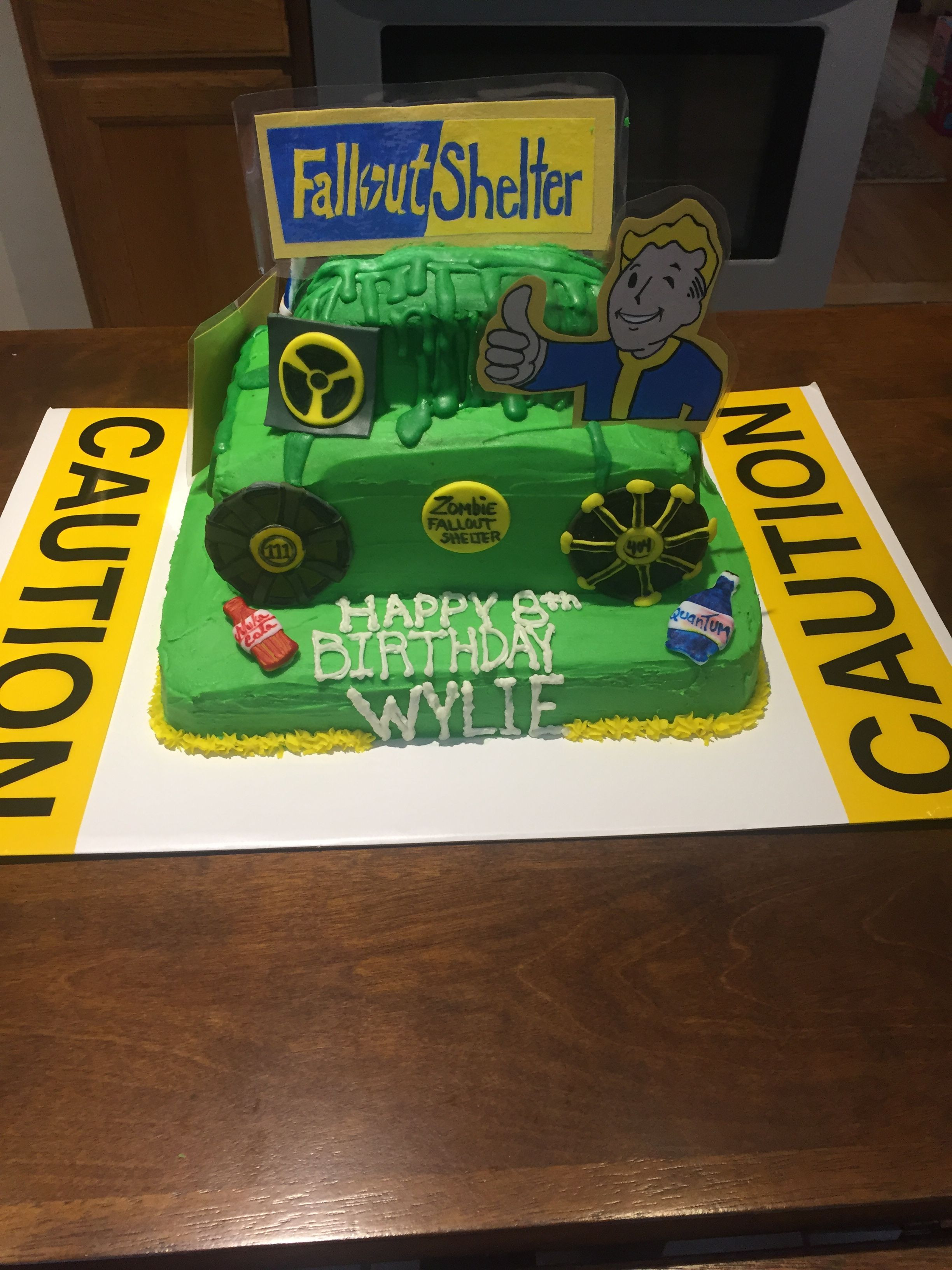 Fallout Birthday Cake  Fallout Shelter Birthday cake