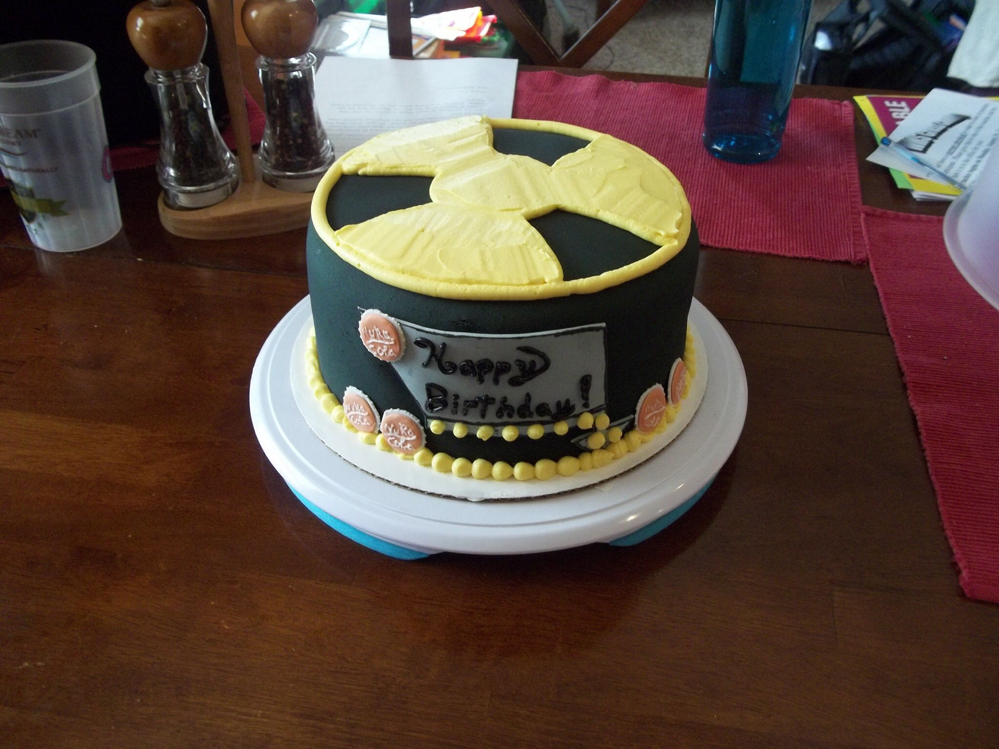 Fallout Birthday Cake  Fallout themed cake Cakes Pinterest