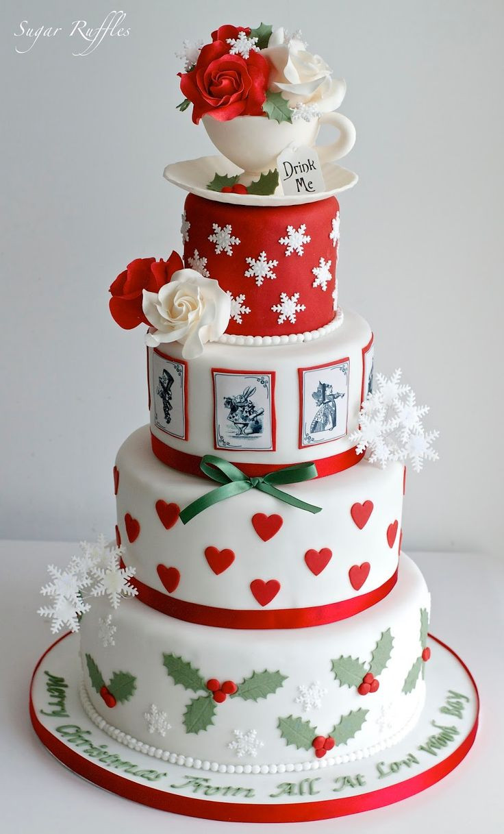 Fancy Christmas Cakes  455 best christmas cakes & cookies images on Pinterest