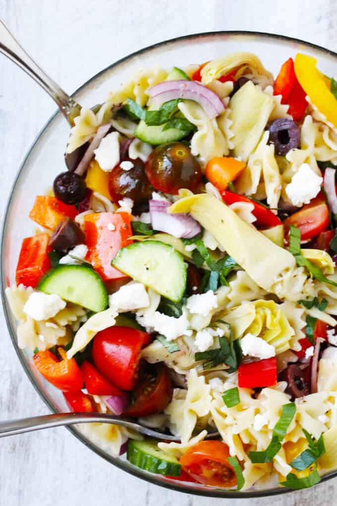 Farfalle Pasta Salad  Farfalle Pasta Salad Mediterranean Style