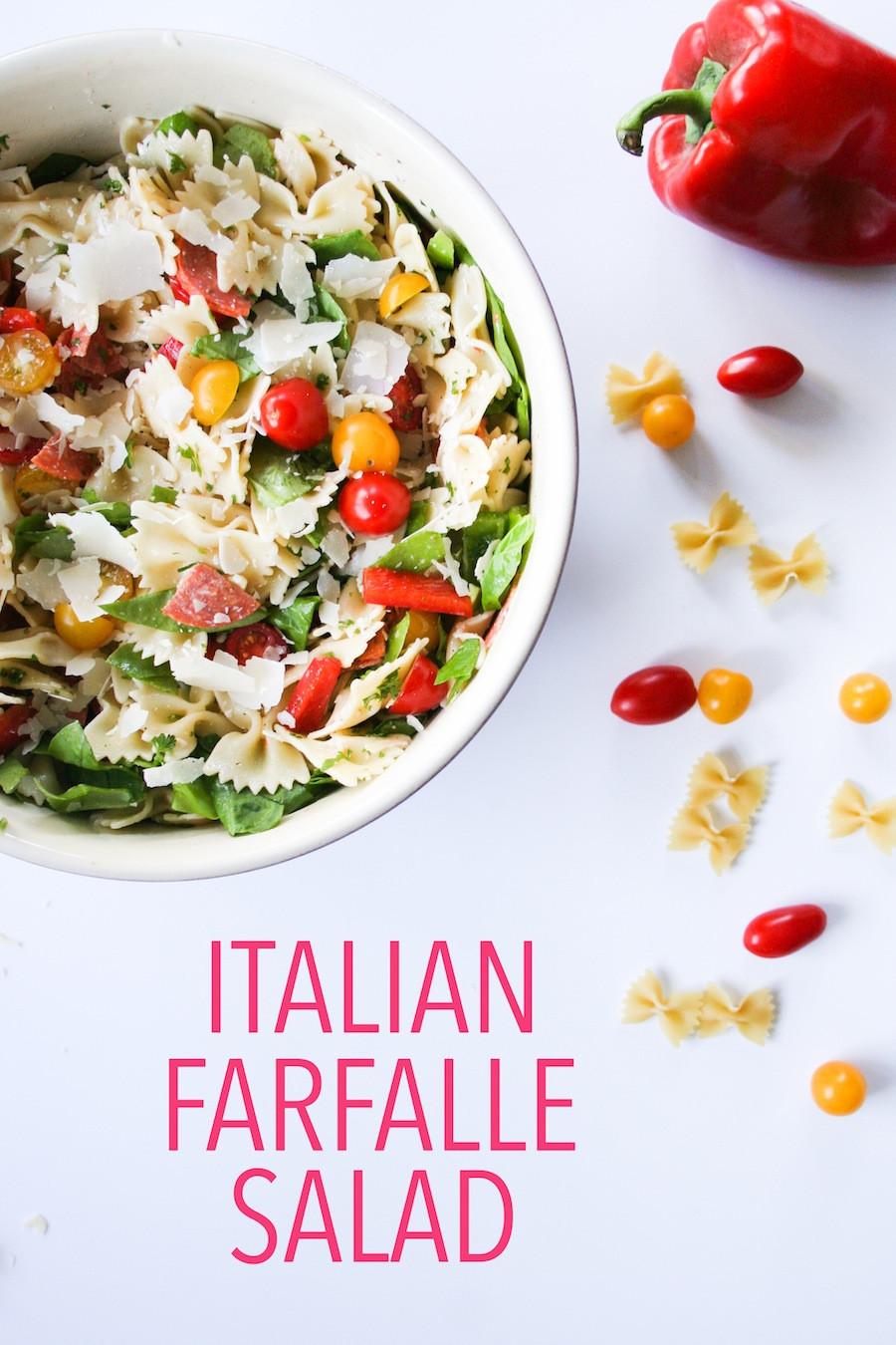 Farfalle Pasta Salad  Simple Summer Farfalle Pasta Salad