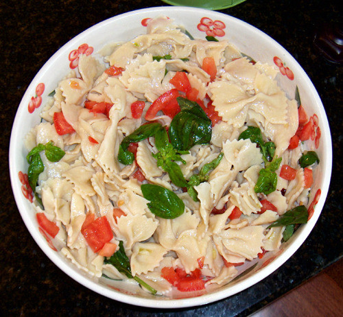 Farfalle Pasta Salad Recipes  Homemade Farfalle Pasta Salad for July 4th Recipe by