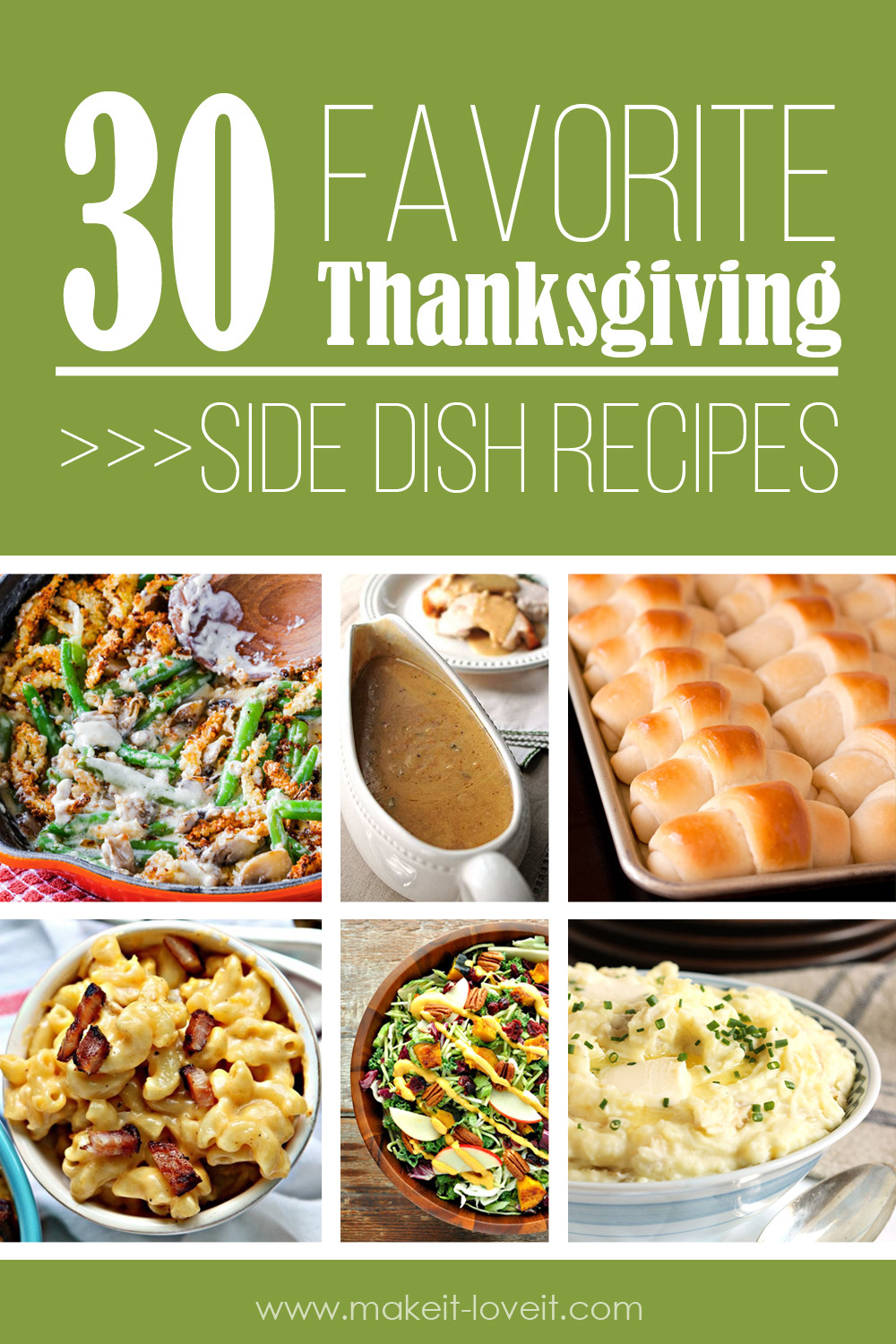 Favorite Thanksgiving Side Dishes  30 Favorite Thanksgiving Side Dish Recipes