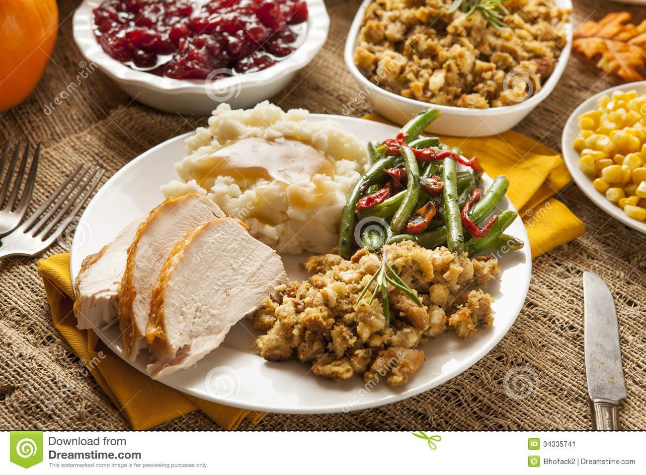 Festival Foods Thanksgiving Dinners  Homemade Turkey Thanksgiving Dinner Stock Image Image