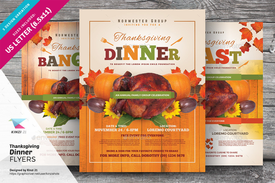 Festival Foods Thanksgiving Dinners  Thanksgiving Dinner Flyer Templates by kinzishots