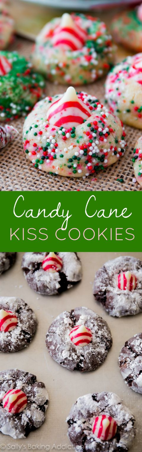 Festive Christmas Cookies  Candy Cane Kiss Cookies Sallys Baking Addiction
