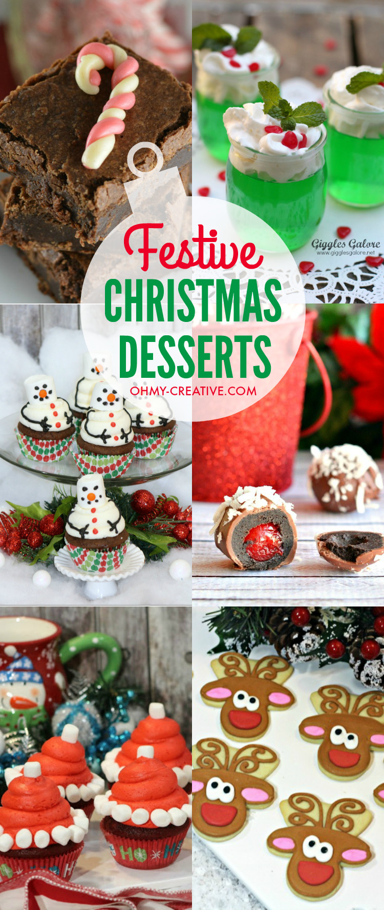 Festive Christmas Desserts  Festive Christmas Desserts Oh My Creative