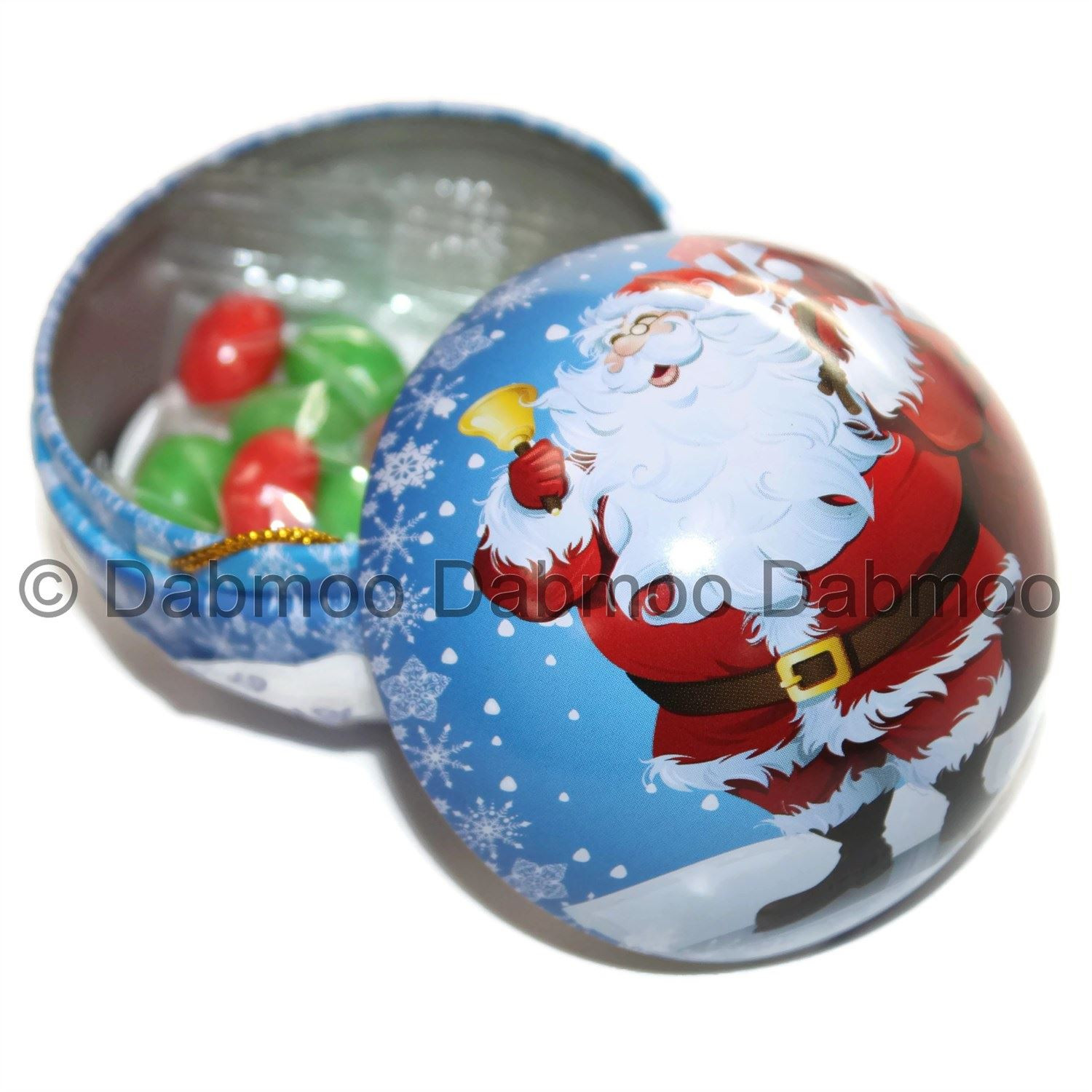 Filled Christmas Candy  Candy Filled Christmas Decoration Bauble Tin Assorted