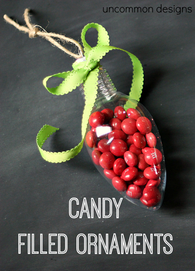Filled Christmas Candy  Candy Filled Ornaments Un mon Designs