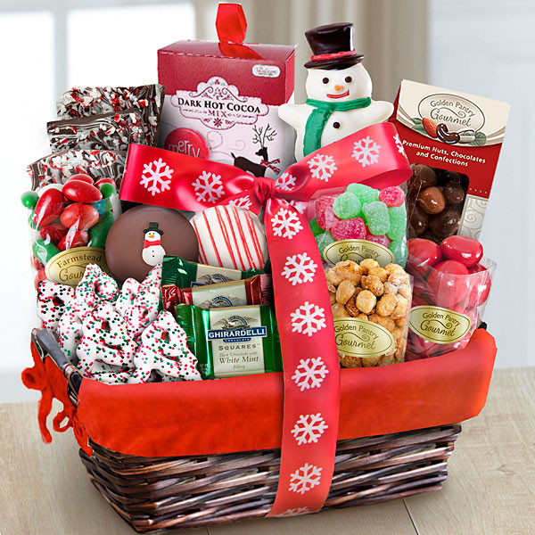 Food Gifts For Christmas To Be Delivered  Santa Sweets Holiday Gourmet Basket Gift Basket Delivery
