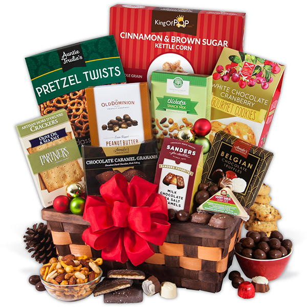 Food Gifts For Christmas To Be Delivered  GourmetGiftBaskets Classic Christmas Gift Basket