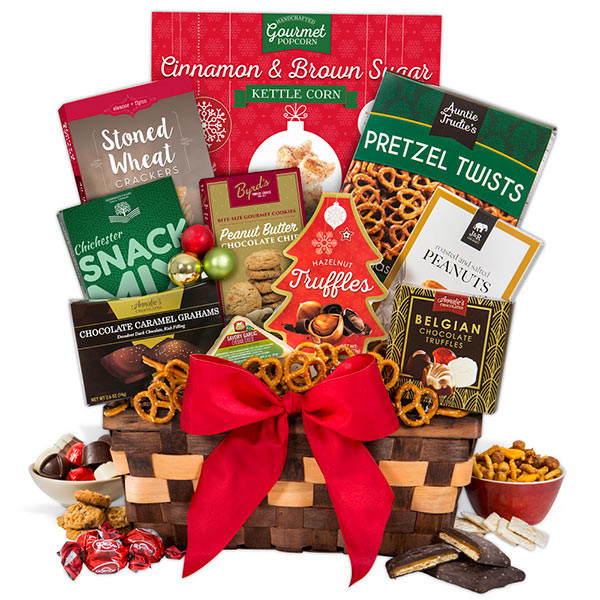 Food Gifts For Christmas To Be Delivered  Holiday Food Basket Select by GourmetGiftBaskets