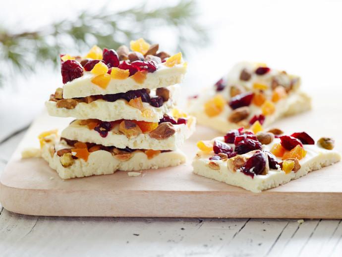 Food Network Christmas Cookies  White Chocolate Bark Ina Garten barefoot contessa