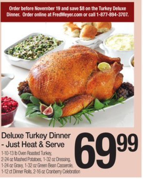 Fred Meyer Thanksgiving Dinner  Best Turkey Price Roundup – updated as of 11 10 17