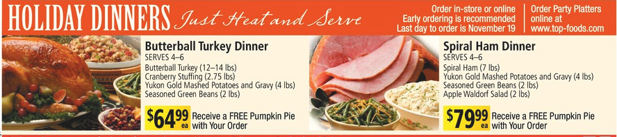 Fred Meyer Thanksgiving Dinner  safeway christmas turkey dinner