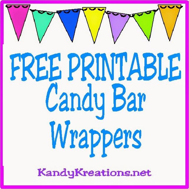 Free Printable Christmas Candy Bar Wrappers  10 Printable Candy Bar Wrappers