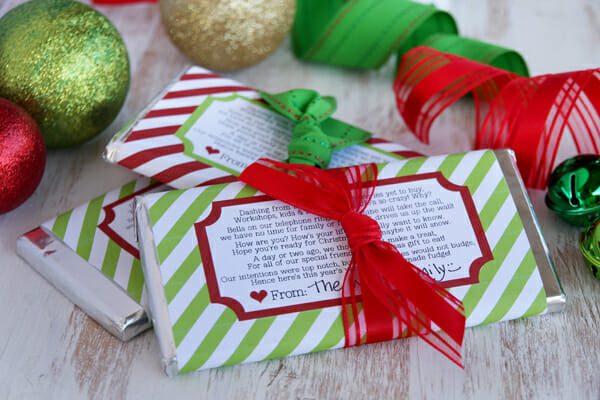 Free Printable Christmas Candy Bar Wrappers  Candy Bar Wrapper Holiday Printable Our Best Bites