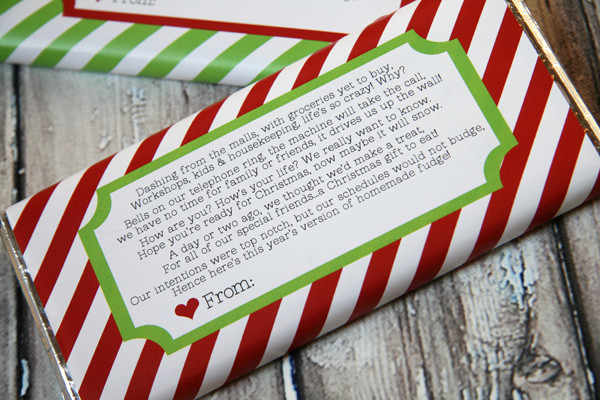 Free Printable Christmas Candy Bar Wrappers  Craftionary