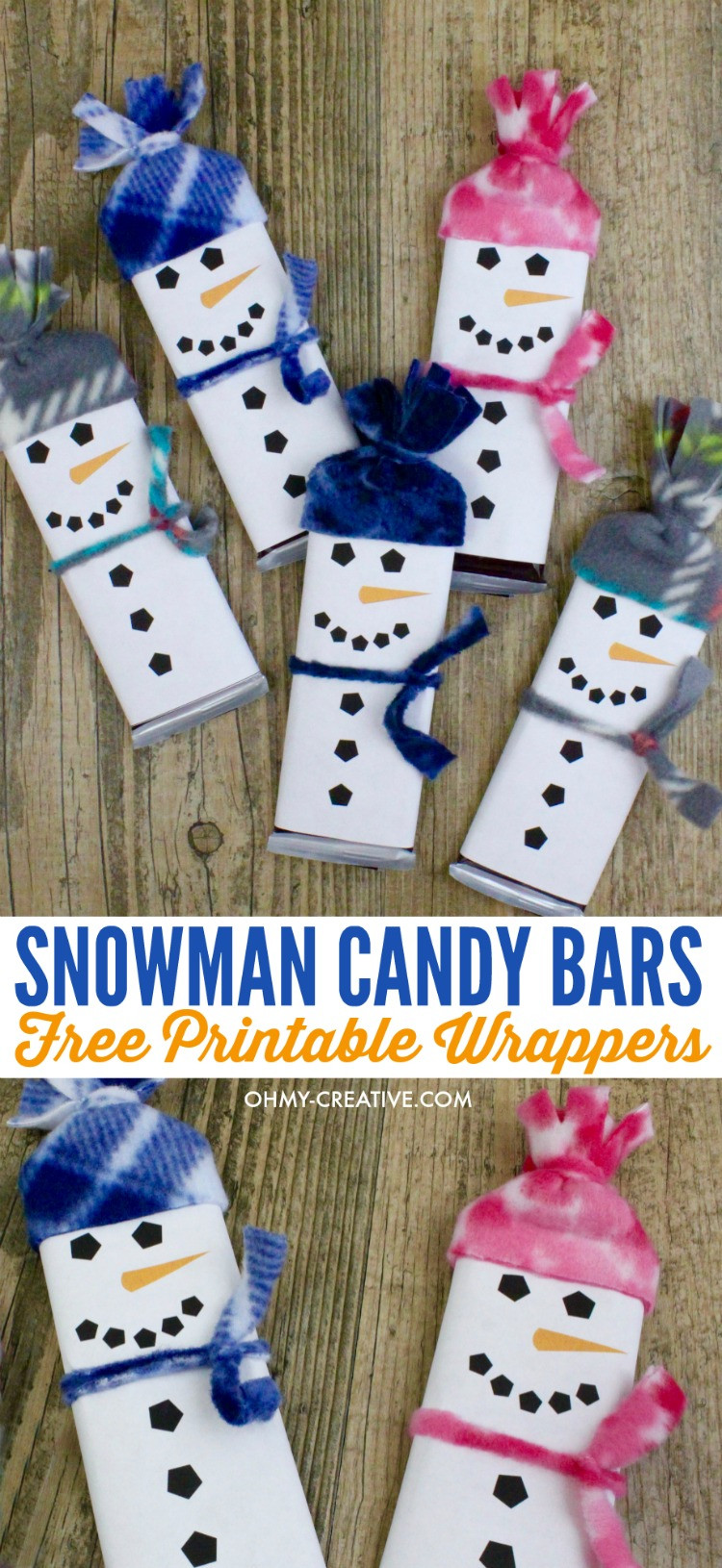 Free Printable Christmas Candy Bar Wrappers  Snowman Free Printable Candy Bar Wrapper Template Oh My