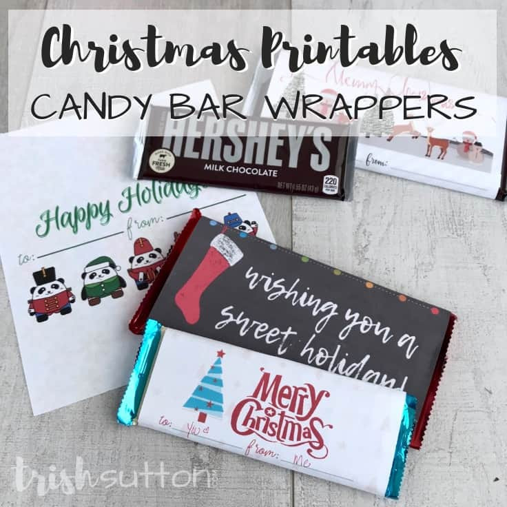 Free Printable Christmas Candy Bar Wrappers  Free Printable Candy Bar Wrappers