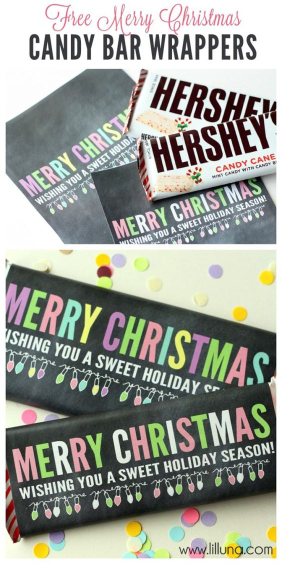 Free Printable Christmas Candy Bar Wrappers  Christmas printables Printables and Candy bar wrappers on