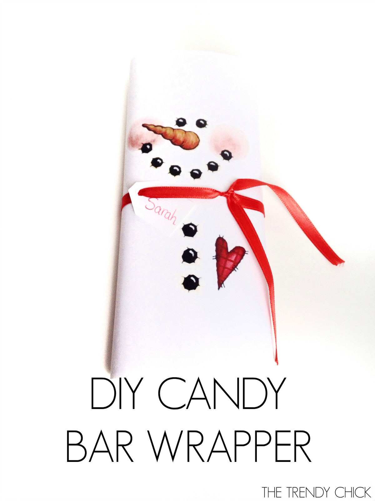 Free Printable Christmas Candy Bar Wrappers  The Trendy Chick 4 Easy DIY Christmas Gifts