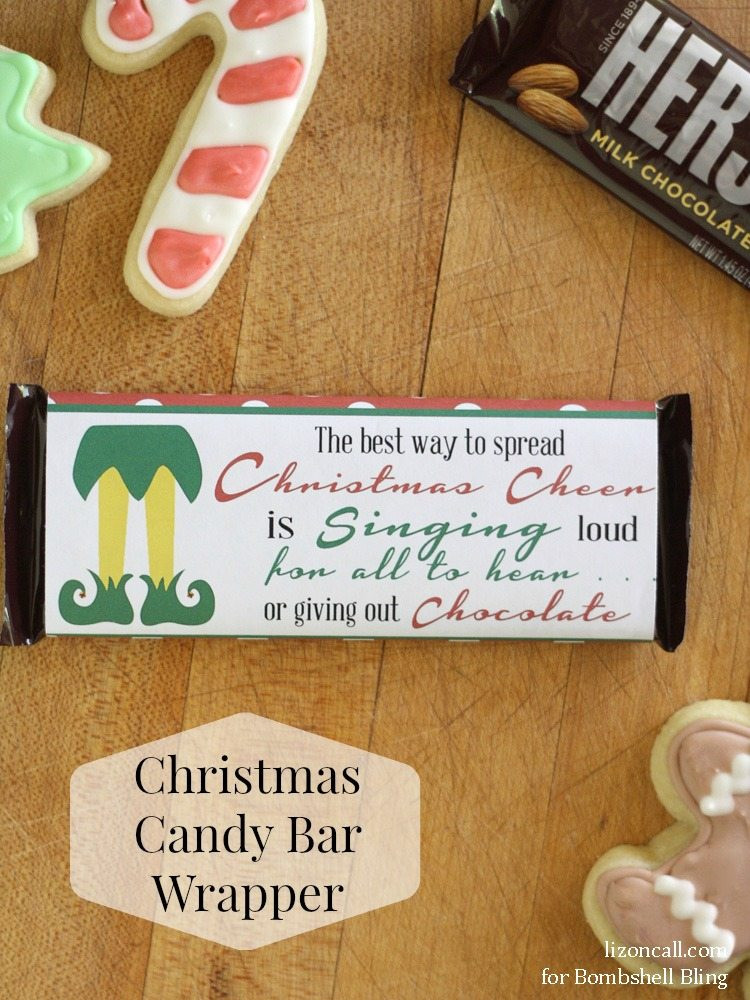 Free Printable Christmas Candy Bar Wrappers  Elf Inspired Printable Christmas Candy Bar Wrapper