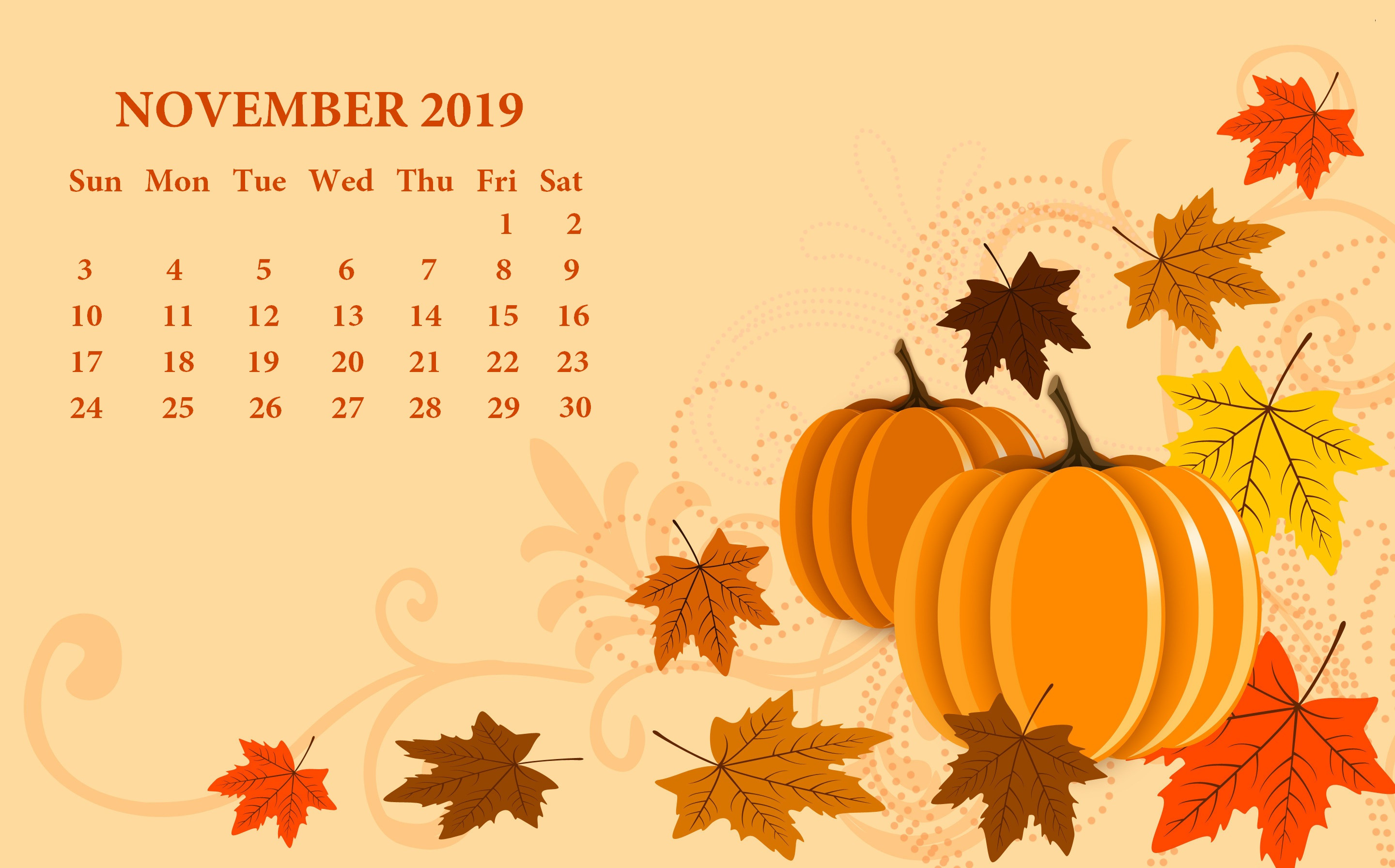 Free Turkey For Thanksgiving 2019  Free 2019 Monthly HD Calendar Wallpaper