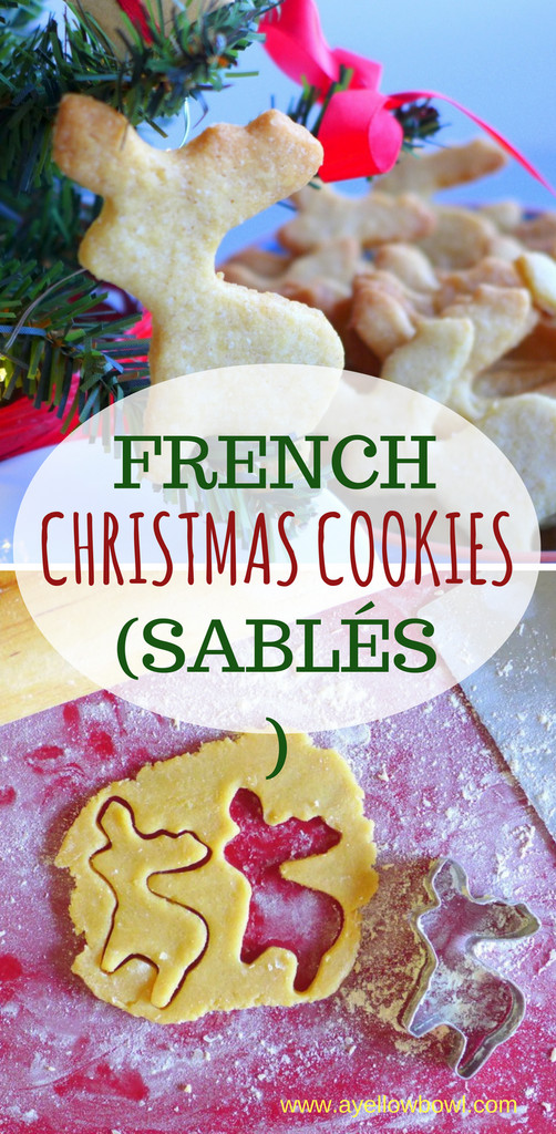 French Christmas Cookies  Edible Gifts French Christmas Cookies or Sablés