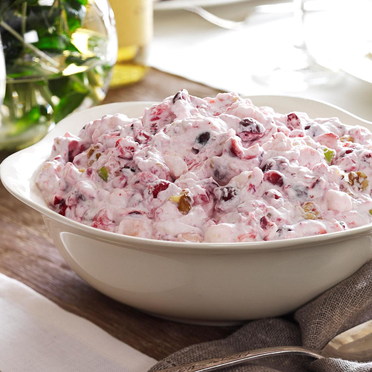 Fruit Salads For Thanksgiving Dinner  Creamy Cranberry Salad Recipe