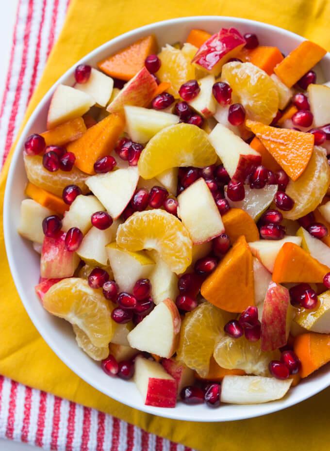 Fruit Salads For Thanksgiving Dinners  Winter Fruit Salad with Honey Lemon Syrup Little Broken