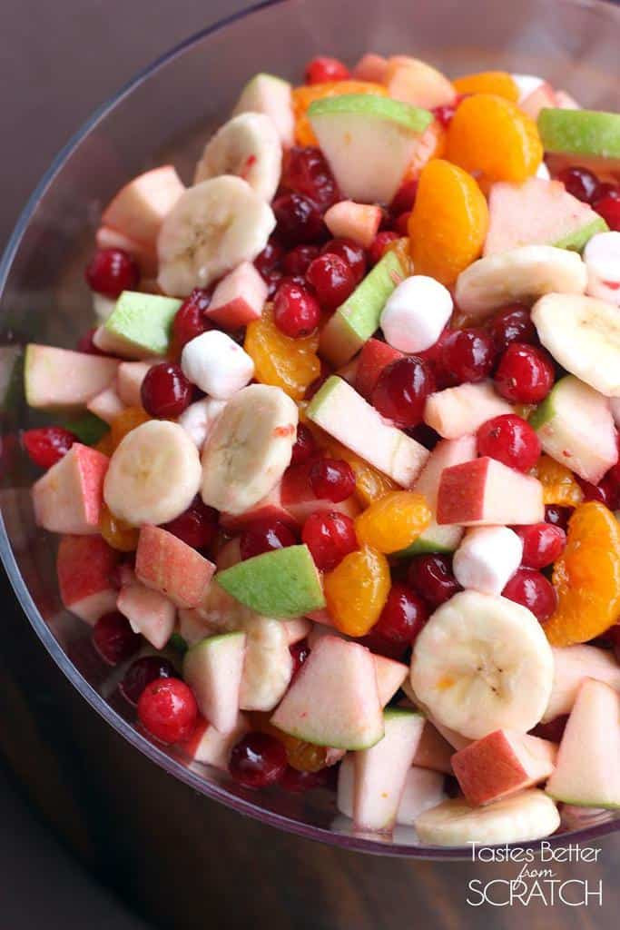 Fruit Salads For Thanksgiving Dinners  Apple Cranberry Fruit Salad Tastes Better From Scratch
