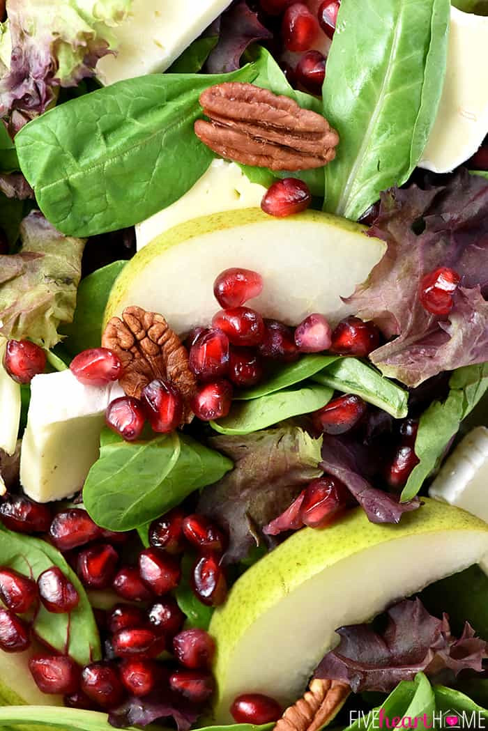 Fruit Salads For Thanksgiving Dinners  Thanksgiving Salad with Pomegranate Pears Pecans