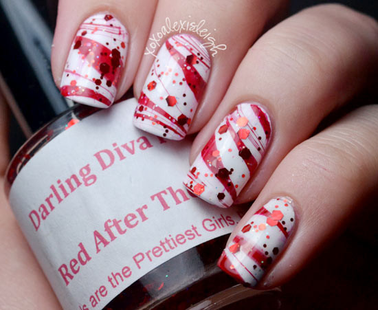 Fun Christmas Candy  Fun And Easy Christmas Candy Cane Nail Designs fashionsy