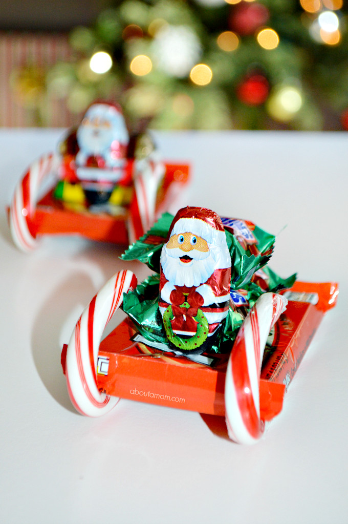 Fun Christmas Candy  How to Make Candy Sleighs About A Mom