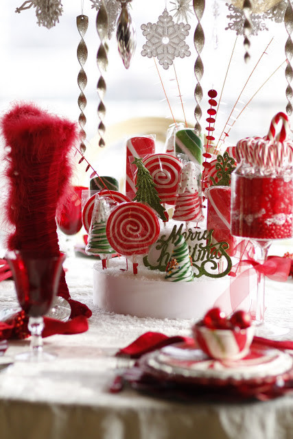 Fun Christmas Candy  Mrs Claus Candy Table Purple Chocolat Home