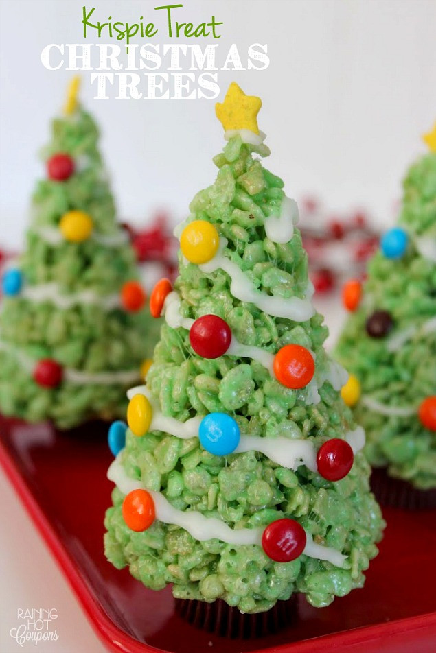 Fun Christmas Dessert  Christmas Rice Krispie Treats Clean and Scentsible