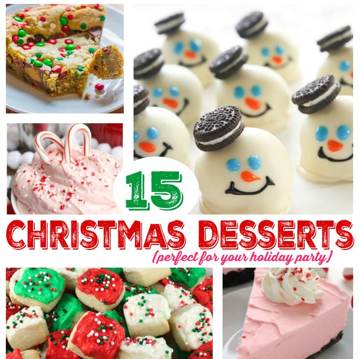 Fun Christmas Dessert  15 Delicious Christmas Party Dessert Ideas Mommy s Bundle
