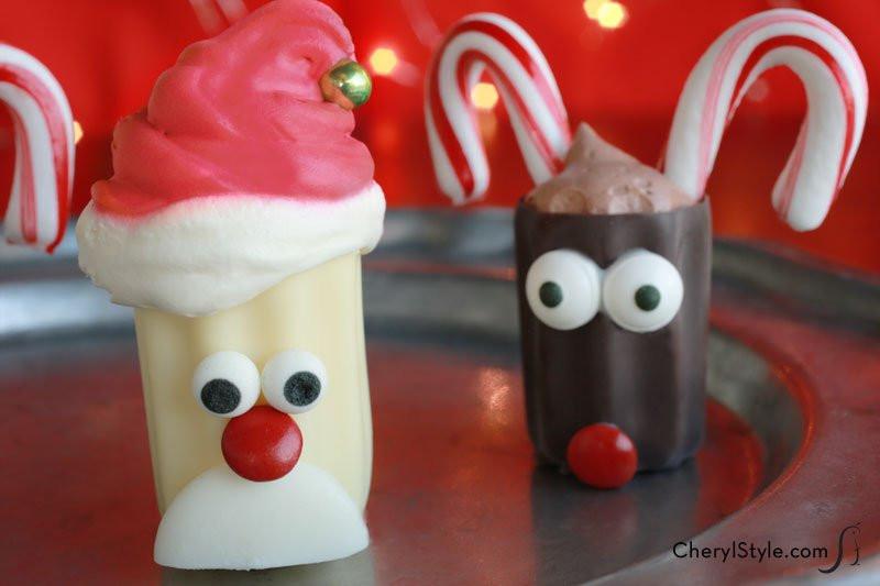 Fun Easy Christmas Desserts  No Bake Mini Santa Desserts Recipe