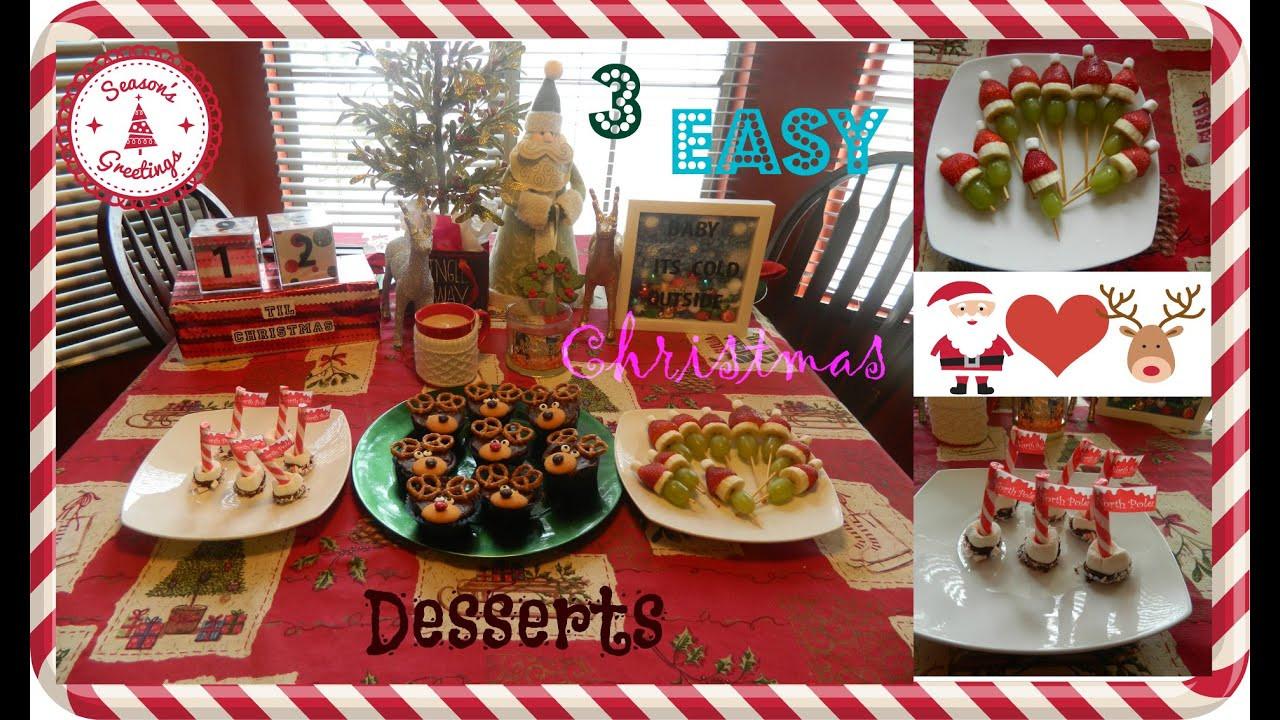 Fun Easy Christmas Desserts  3 Easy & Fun Christmas Desserts Pinterest Inspired