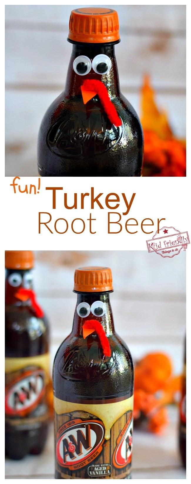 Fun Thanksgiving Drinks  Fun Turkey Root Beer Thanksgiving Drink Cute Fun Food