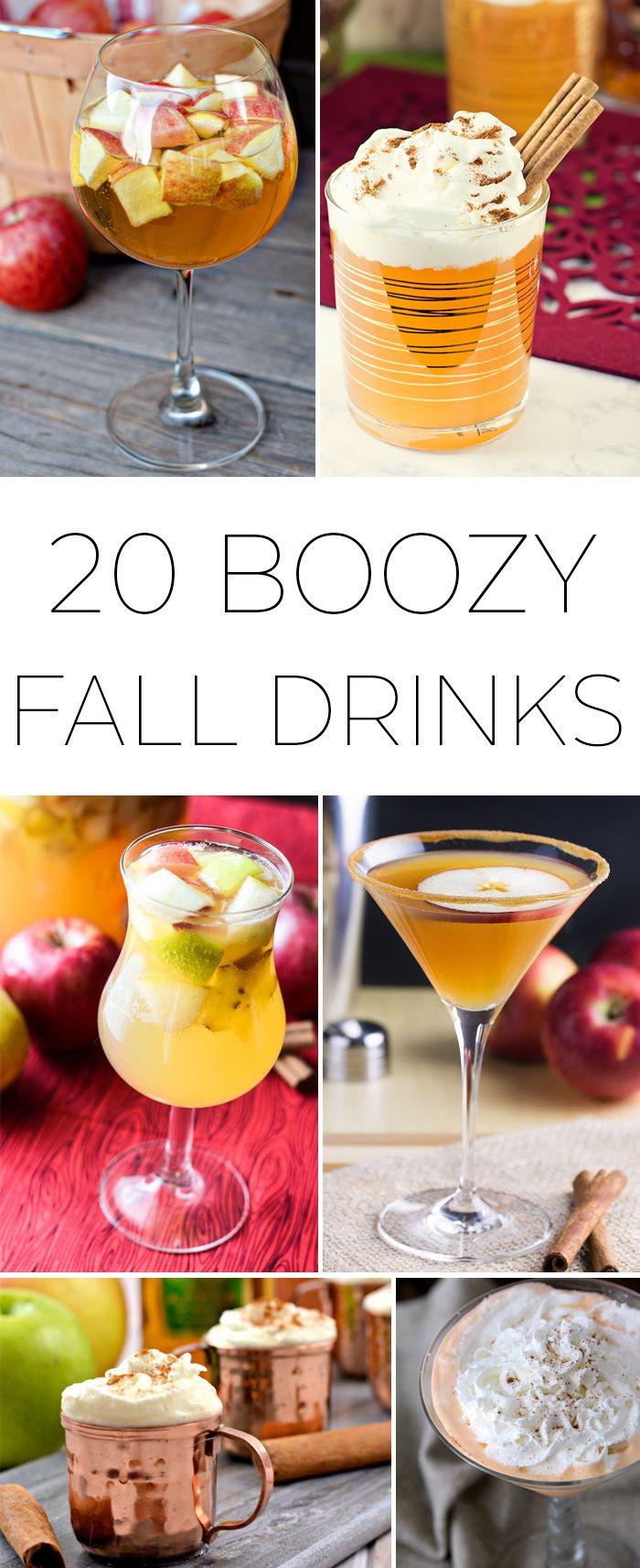 Fun Thanksgiving Drinks  20 Boozy Fall Drinks