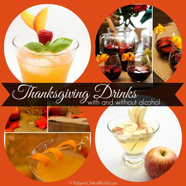 Fun Thanksgiving Drinks  Thanksgiving Drink Recipes for Kids and Adults Robyns World