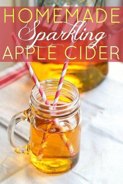 Fun Thanksgiving Drinks  Homemade Sparkling Apple Cider Recipes
