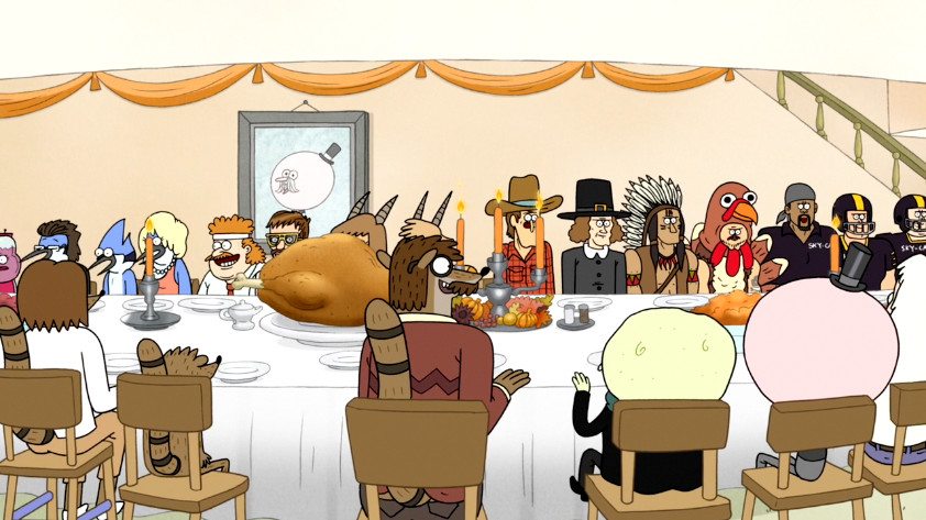 Furrs Thanksgiving Dinners  Image S5E12 409 People at Thanksgiving Dinner 01 PNG