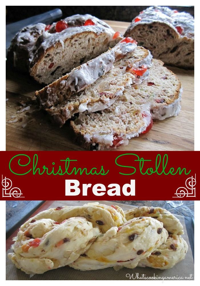 German Christmas Bread  Christmas Dresden Stollen Recipe Whats Cooking America